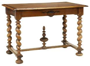 FRENCH LOUIS XIII STYLE WALNUT WRITING TABLE