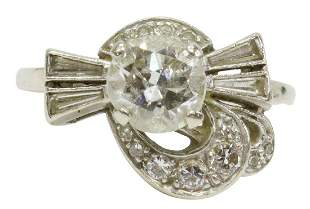 ESTATE 14KT WHITE GOLD & 1.50CTTW DIAMOND RING