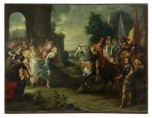 DUTCH SCHOOL PAINTING ON COPPER JEPHTHAH DAUGHTER