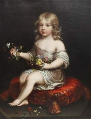 FOLLOWER OF PIERRE MIGNARD PORTRAIT OF A CHILD