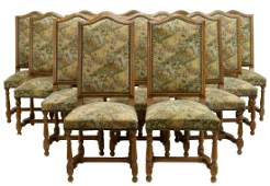 (14) FRENCH LOUIS XIV STYLE HIGHBACK DINING CHAIRS