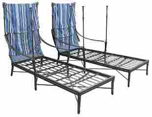 (2) CENTURY 'ANDALUSIA' OUTDOOR CANOPY CHAISES