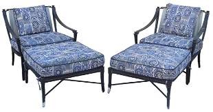 (4) CENTURY 'ANDALUSIA' LOUNGE CHAIRS & OTTOMANS