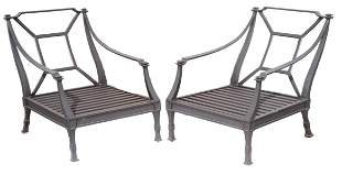 2) RESTORATION HARDWARE ANTIBES LUXE LOUNGE CHAIRS