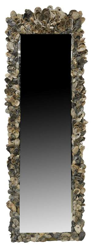 ANTHONY REDMILE STYLE SHELL-ENCRUSTED MIRROR