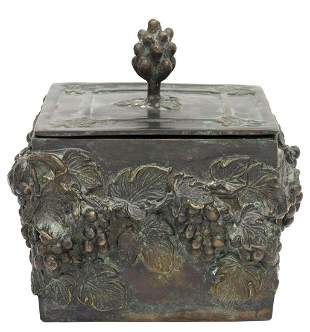 MAITLAND-SMITH (ATTRIB.) CAST BRONZE TABLE BOX