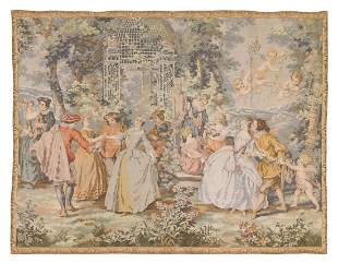 ROCOCO STYLE FETE CHAMPETRE WALL TAPESTRY