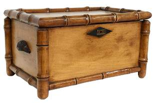 FRENCH FAUX BAMBOO MAPLE TABLE BOX