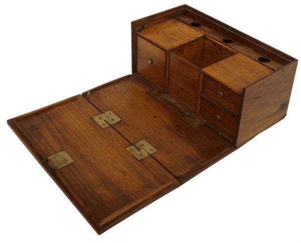 ANTIQUE TOBACCO PIPE BOX OR WORK BOX - 2
