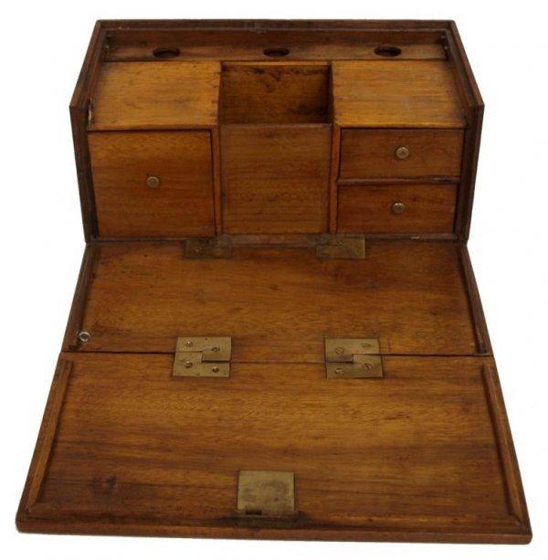 ANTIQUE TOBACCO PIPE BOX OR WORK BOX - 3