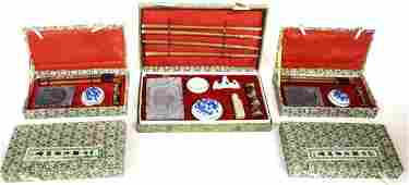 (5) COLLECTION CHINESE BOX CALLIGRAPHY SETS