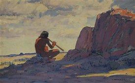 LON MEGARGEE (1883-1960) NATIVE AMERICAN PAINTING