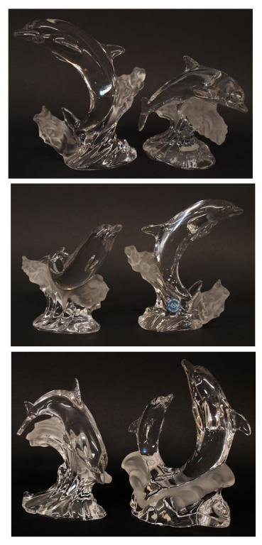 COLLECTION OF LENOX CRYSTAL DOLPHIN FIGURES