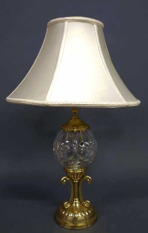 WATERFORD CUT CRYSTAL LISMORE PATTERN TABLE LAMP