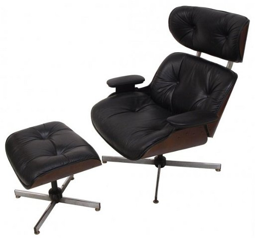Enjoyable Plycraft Eames Style Lounge Chair Ottoman Black Pdpeps Interior Chair Design Pdpepsorg