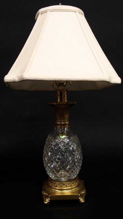 Waterford Crystal Pineapple Form Table Lamp