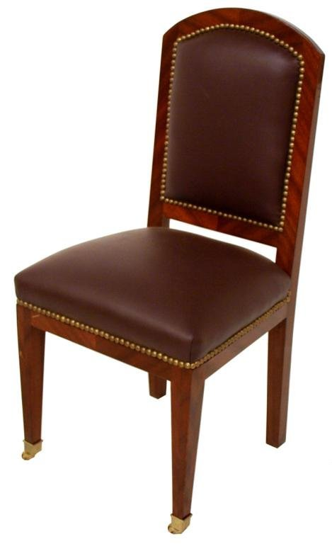 FRENCH STYLE FINELY INLAID DEMILUNE DESK & CHAIR - 4