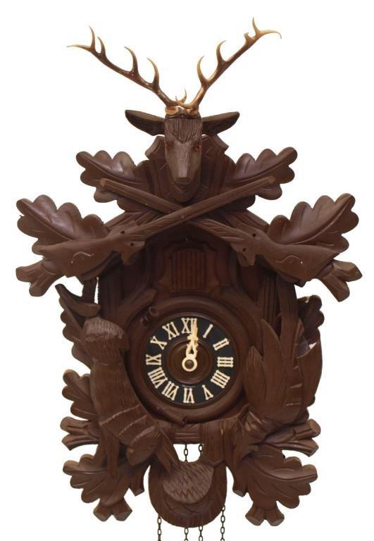 (3) CUCKOO CLOCK, AUSTRIAN PORCELAIN CLOCK, HORSE - 2