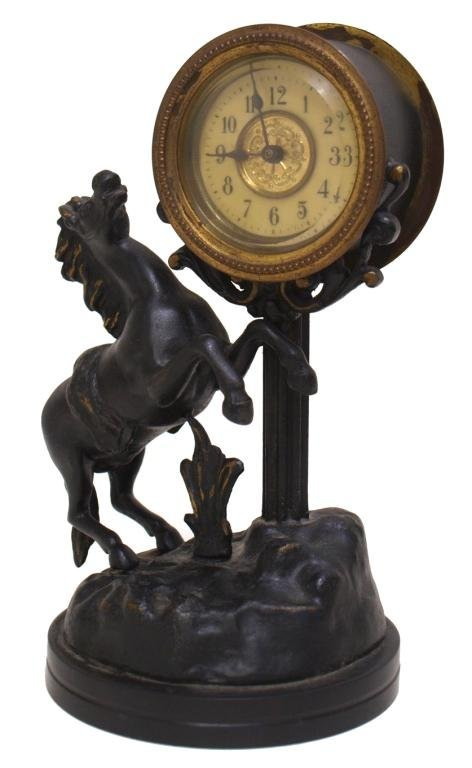 (3) CUCKOO CLOCK, AUSTRIAN PORCELAIN CLOCK, HORSE - 3