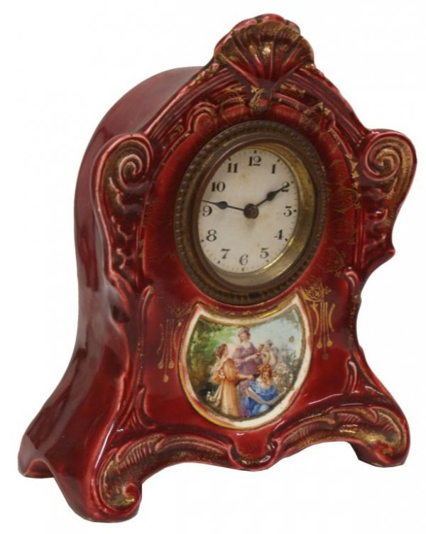 (3) CUCKOO CLOCK, AUSTRIAN PORCELAIN CLOCK, HORSE - 4