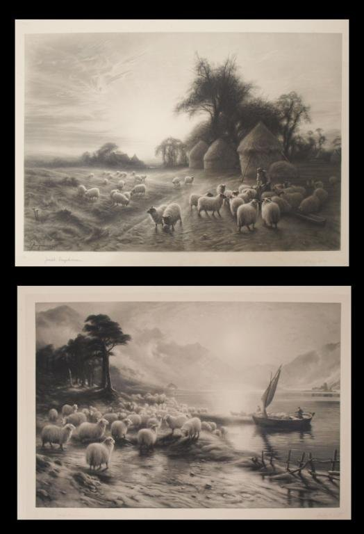 (2) ANTIQUE PRINTS, JOSEPH FARQUHARSON (1846-1935)