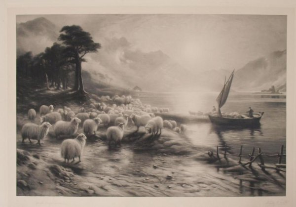 (2) ANTIQUE PRINTS, JOSEPH FARQUHARSON (1846-1935) - 2