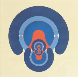 RONALD ABRAM (1938-1999) OP ART SERIGRAPH