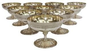(10) AMERICAN MERIDEN SILVERPLATE SHERBERT CUPS