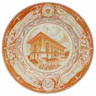 WEDGWOOD UT 'THE OLD LIBRARY' COMMEMORATIVE PLATE