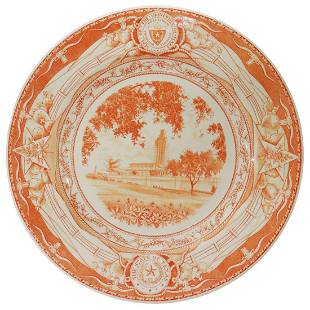 WEDGWOOD UT 'NEW ADMINISTRATION BUILDING' PLATE