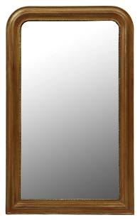 FRENCH LOUIS PHILIPPE GILTWOOD WALL MIRROR