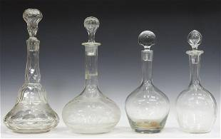 (4) BACCARAT & OTHER GLASS DECANTERS