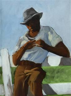 CHARLY PALMER (B.1960) AFRICAN AMERICAN PORTRAIT