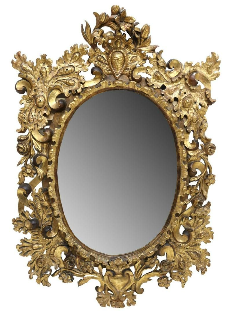 MONUMENTAL FRENCH LOUIS XV STYLE GOLD LEAF MIRROR