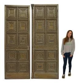 (2) EXCEPTIONAL GOTHIC REVIVAL STEEL PANEL DOORS