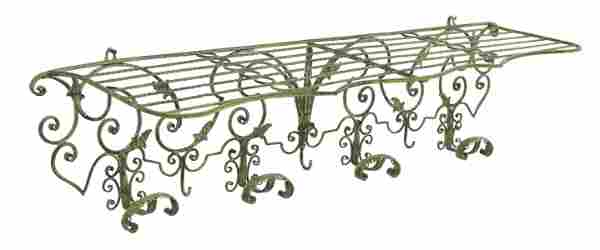 WALL MOUNTED WROUGHT IRON COAT OR HAT RACK