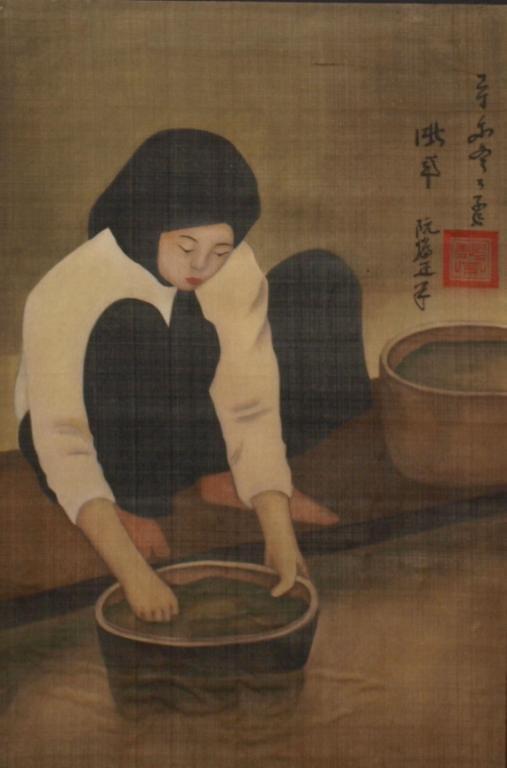 FRAMED SILKSCREEN, AFTER NGUYEN CHANH (1892-1984)