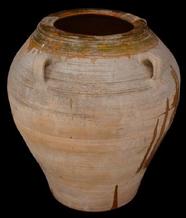ANTQUE MIRAVET SPAIN EARTHENWARE OLIVE JAR