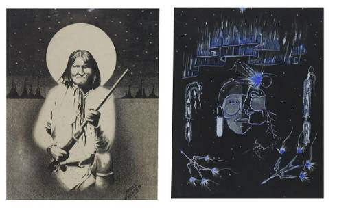 (2) WICHITA & LORENTZ NATIVE AMERICAN PORTRAITS