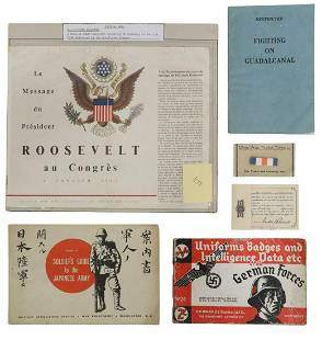 (6) US WWII MILITAR ITEMS, JAPAN & GERMAN