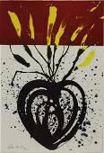 DALE CHIHULY (B.1941) BLUE FLAMING HEART IKEBANA