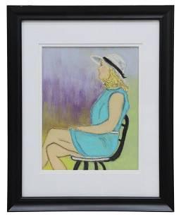 JUDY COPELAND (B.1943) 'SOFIE' PASTEL PORTRAIT