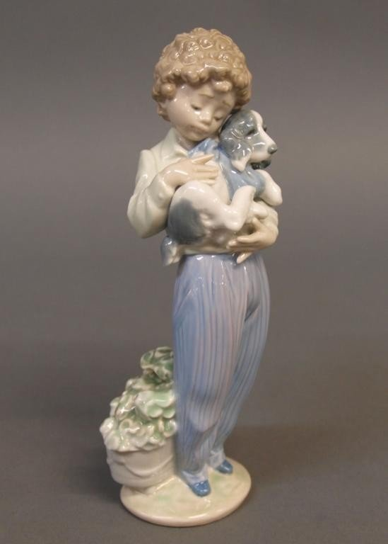 503: LLADRO PORCELAIN FIGURE IN BOX, MY BUDDY, #7609