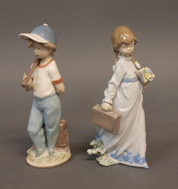 506: LLADRO PORCELAIN FIGURES, SCHOOL DAYS & CAN I PLAY