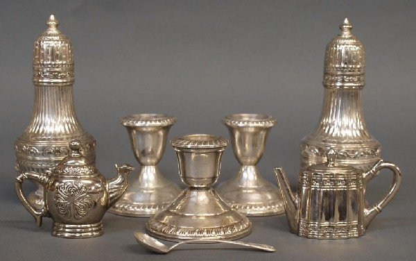 564: STERLING & SILVER PLATE FIGURAL SERVICE ARTICLES - 2