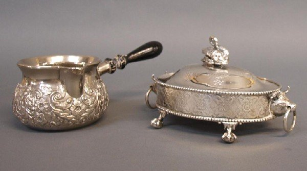 564: STERLING & SILVER PLATE FIGURAL SERVICE ARTICLES - 4