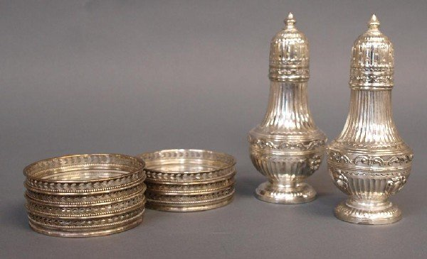 564: STERLING & SILVER PLATE FIGURAL SERVICE ARTICLES - 6