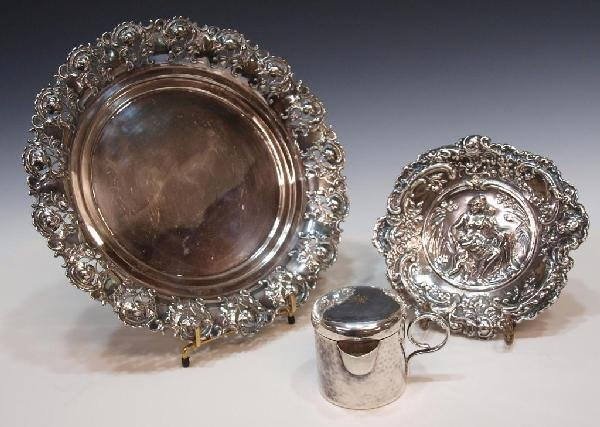 507: GERMAN WMF & ORNATE REPOUSSE SILVER PLATE ARTICLES