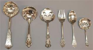 583: ANTIQUE FINE STERLING SILVER SERVICE ARTICLES, NY