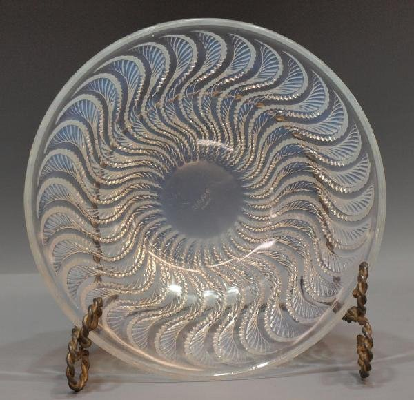 4: R. LALIQUE FRANCE ART CRYSTAL 'ACTINIA' BOWL